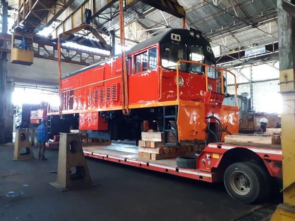 Arterail livre des locomotives à Madagascar