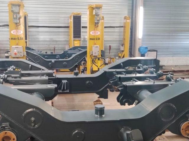 Révision de bogies de voitures couchettes par Arterail